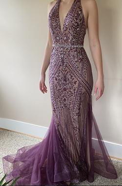 Queenly size 10 Clarisse Purple Mermaid evening gown/formal dress