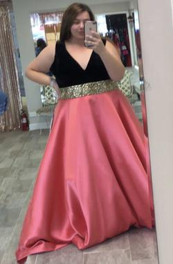 Queenly size 26 Mac Duggal Pink Ball gown evening gown/formal dress