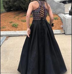Ellie Wilde Black Size 0 Prom Halter Corset Ball gown on Queenly