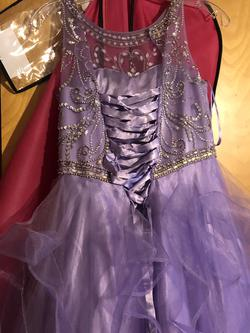 Purple Size 00 A-line Dress on Queenly