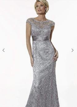 Christina Wu Silver Size 8 Cap Sleeve Straight Dress on Queenly