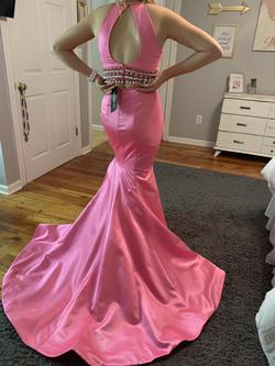 Sherri Hill Pink Size 2 Backless Train Mermaid Dress on Queenly