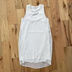 Helmut Lang White Size 0 Sorority Formal High Low Straight Dress on Queenly