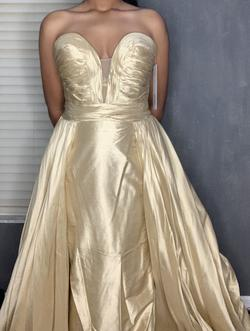 Style 36163 Jovani Nude Size 4 Sweetheart Train Dress on Queenly