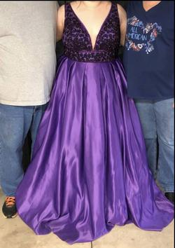 Vienna Purple Size 20 Plunge Pageant Ball gown on Queenly
