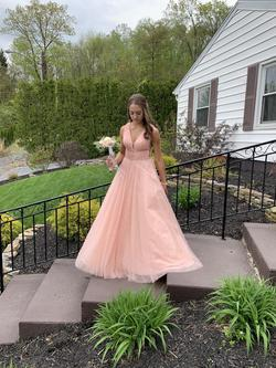 Sherri Hill Pink Size 2 Plunge Ball gown on Queenly