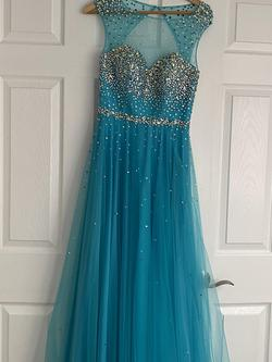 Tony Bowls Blue Size 6 Tony Bowels Tall Height Ball gown on Queenly
