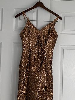 French Connection Gold Size 8 Sequin Cocktail Dress on Queenly