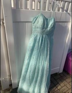Queenly size 18 Davids bridal Blue A-line evening gown/formal dress