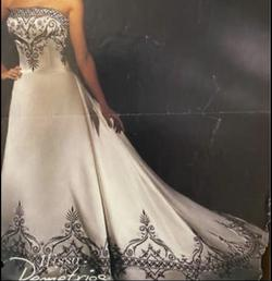 Ilissa by Demetrios White Size 10 Embroidery Tall Height Train Dress on Queenly