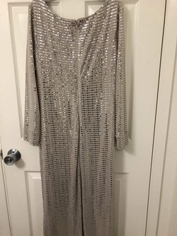 Queenly size 12  Silver Ball gown evening gown/formal dress