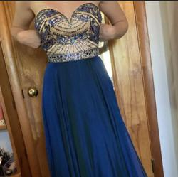 Sherri Hill Blue Size 12 Straight Dress on Queenly