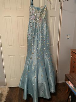 Jovani Multicolor Size 14 Sweetheart Train Dress on Queenly