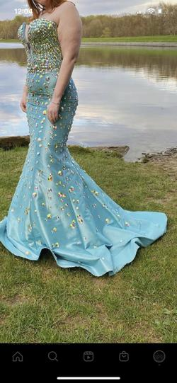Queenly size 14  Multicolor Train evening gown/formal dress