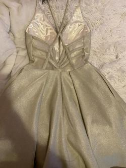 Jovani Gold Size 00 Homecoming A-line Dress on Queenly