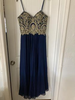 Queenly size 16 Camille La Vie Multicolor A-line evening gown/formal dress