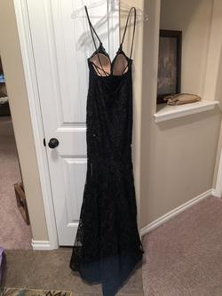 Style 45005 Mori Lee Black Size 4 Prom Lace A-line Dress on Queenly
