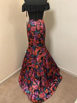 Rachel Allan Multicolor Size 2 Prom Floral Mermaid Dress on Queenly