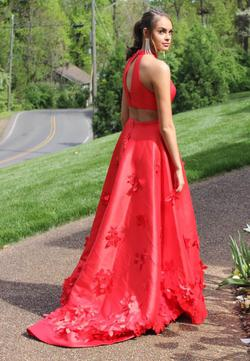 Style 5116 Sherri Hill Red Size 8 A-line Dress on Queenly
