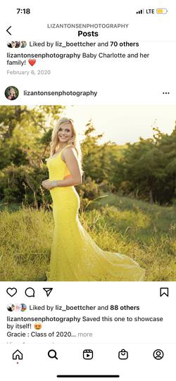 Queenly size 6  Yellow Mermaid evening gown/formal dress