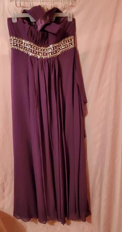 Purple Size 14 A-line Dress on Queenly