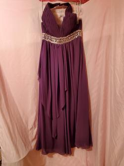 Queenly size 14  Purple A-line evening gown/formal dress