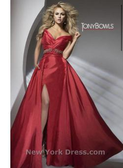 Tony Bowls Red Size 2 Pageant Train Dress on Queenly