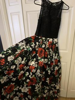 Lets Prom Multicolor Size 2 Floral Tall Height Ball gown on Queenly
