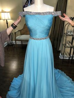 Sherri Hill Blue Size 6 Pageant Straight Dress on Queenly