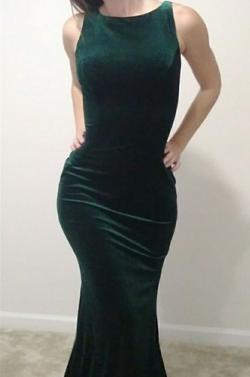 Jovani Green Size 00 Train Straight Dress on Queenly