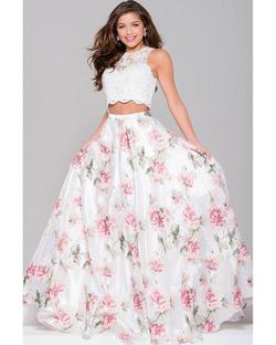 Jovani Pink Size 0 Two Piece Prom A-line Dress on Queenly