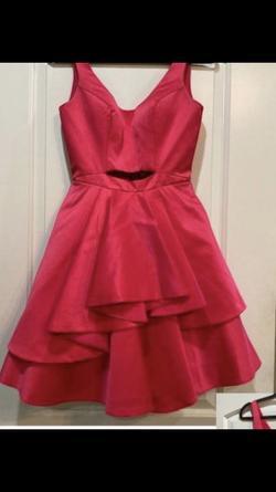 Rachel Allan Pink Size 4 Belt Cocktail Dress on Queenly