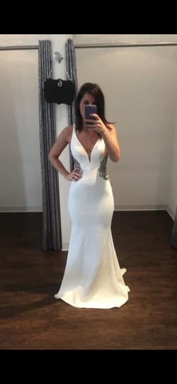 Queenly size 2  White A-line evening gown/formal dress