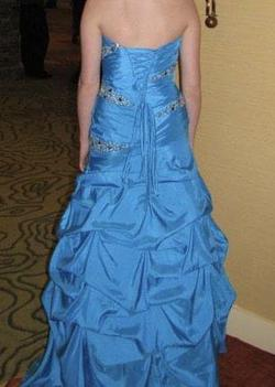 Night Moves Blue Size 4 Corset Jewelled Ball gown on Queenly