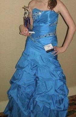 Queenly size 4 Night Moves Blue Ball gown evening gown/formal dress