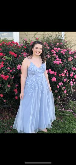 Queenly size 16 Night Moves Blue Straight evening gown/formal dress