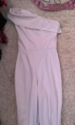 Queenly size 2 Fernando Wong White Jumpsuit evening gown/formal dress