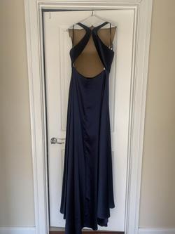 Dave & Johnny Blue Size 8 Side slit Dress on Queenly