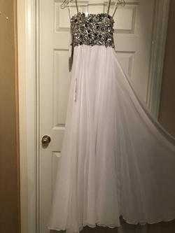 Jazz White Size 4 Strapless A-line Dress on Queenly