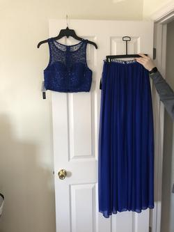 Sequin Hearts Royal Blue Size 2 Straight Dress on Queenly
