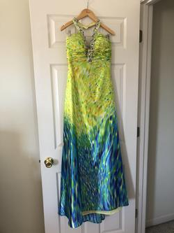 Queenly size 6  Multicolor Mermaid evening gown/formal dress