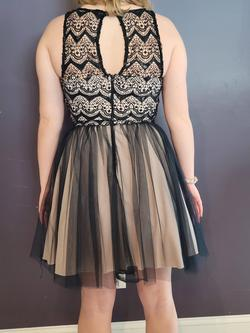 Sequin Hearts Nude Size 8 Ball gown on Queenly
