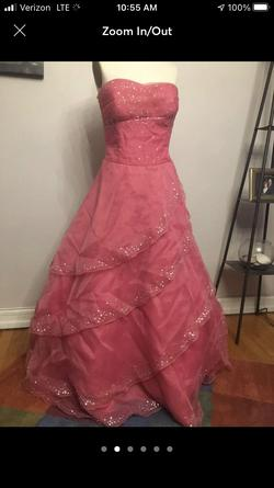 Queenly size 16  Pink Ball gown evening gown/formal dress