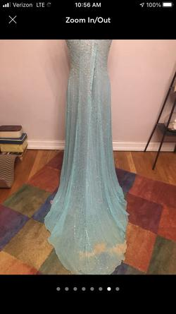 Tiffany Designs Blue Size 14 Plus Size Train Dress on Queenly