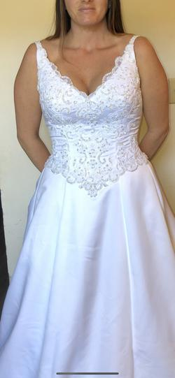 Mori Lee White Size 12 A-line Dress on Queenly