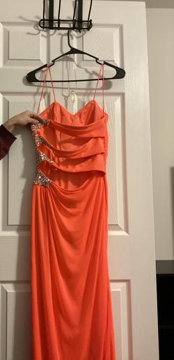 Morgan & Co Orange Size 8 Coral Prom Straight Dress on Queenly