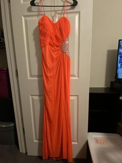 Queenly size 8  Orange Straight evening gown/formal dress