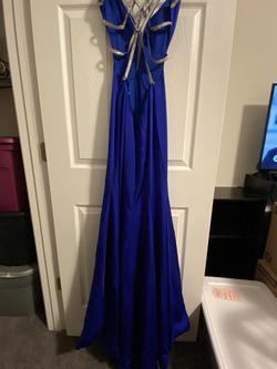 La Femme Blue Size 2 Plunge Straight Dress on Queenly