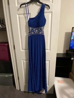 Blondie Nites Royal Blue Size 2 Prom Sequin Straight Dress on Queenly