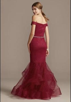 Terani Couture Red Size 16 Mermaid Dress on Queenly